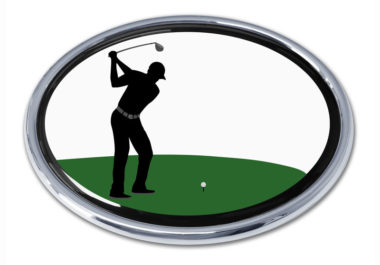 Golf Swing Chrome Emblem