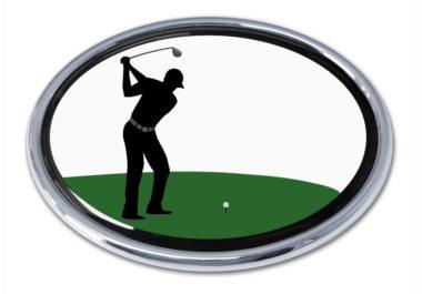 Golf Swing Chrome Emblem