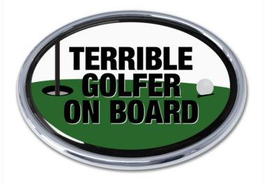 Terrible Golfer Chrome Emblem