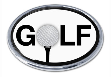 Golf White Chrome Emblem