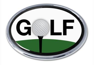 Golf Green Chrome Emblem