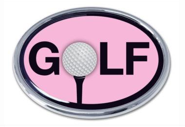 Golf Pink Chrome Emblem
