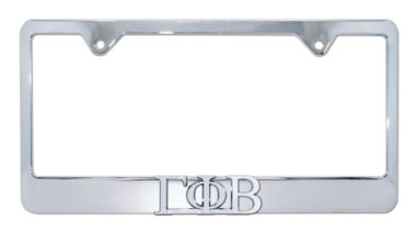 Gamma Phi Beta Chrome License Plate Frame