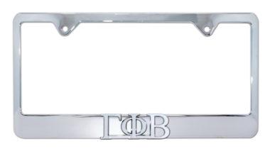Gamma Phi Beta Chrome License Plate Frame