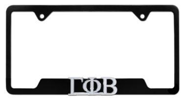 Gamma Phi Beta Sorority Black Open License Plate Frame