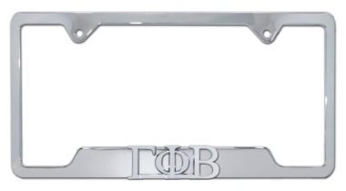 Gamma Phi Beta Sorority Chrome Open License Plate Frame