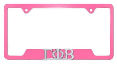 Gamma Phi Beta Sorority Pink Open License Plate Frame image