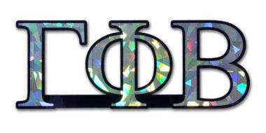 Gamma Phi Beta Reflective Decal  image