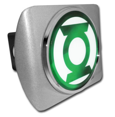 Green Lantern on Brushed Hitch Cover
