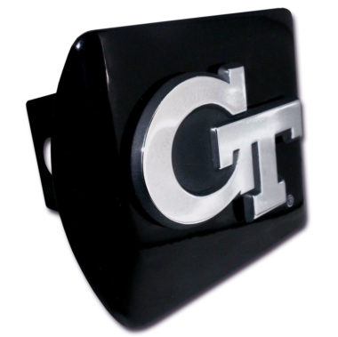 Georgia Tech Emblem on Black Hitch Cover