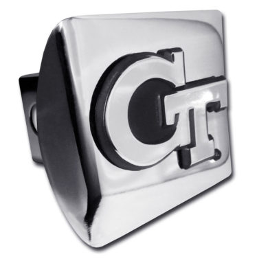 Georgia Tech Emblem on Chrome Hitch Cover