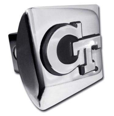 Georgia Tech Emblem on Chrome Hitch Cover