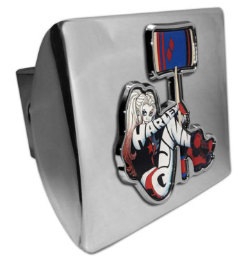 Harley Quinn Emblem on Chrome Hitch Cover