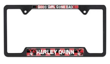 Harley Quinn Open Black License Plate Frame