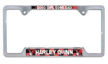 Harley Quinn Open License Plate Frame