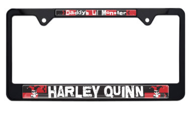 Harley Quinn Black License Plate Frame image