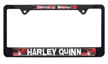Harley Quinn Black License Plate Frame