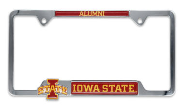 Iowa State 3D Alumni License Plate Frame