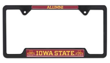 Iowa State Alumni Black License Plate Frame