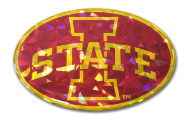 Iowa State Red 3D Reflective Decal