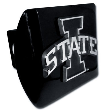 Iowa State Emblem on Black Hitch Cover image