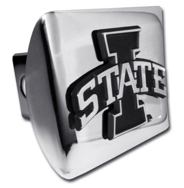 Iowa State Emblem on Chrome Hitch Cover image