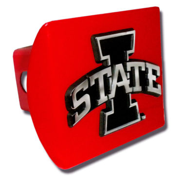 Iowa State Emblem on Red Hitch Cover