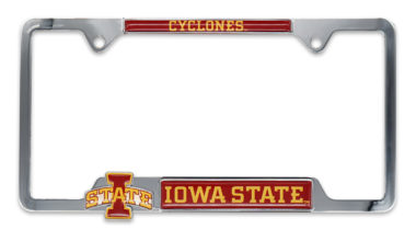 Iowa State 3D Cyclones License Plate Frame