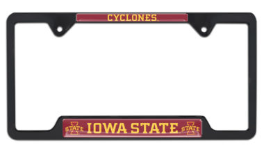 Iowa State Cyclones Black License Plate Frame image