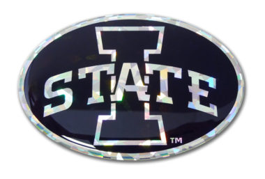 Iowa State Black 3D Reflective Decal