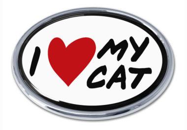 I love My Cat Chrome Emblem image