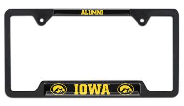 Iowa Alumni Black License Plate Frame image