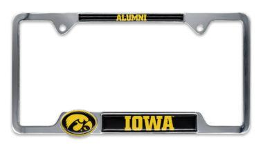Iowa Alumni License Plate Frame image