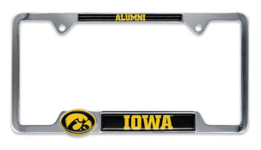 Iowa Alumni License Plate Frame
