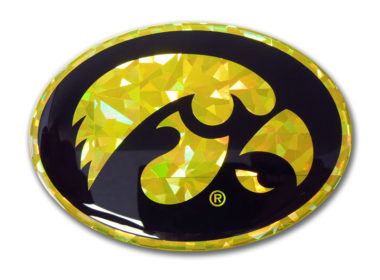 University of Iowa Yellow 3D Reflective Decal