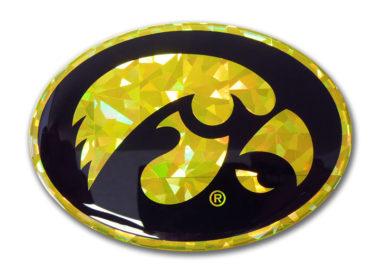 Iowa Yellow Reflective Decal