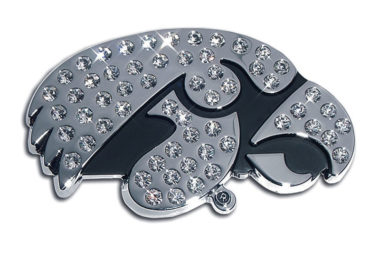 University of Iowa Crystal Chrome Emblem