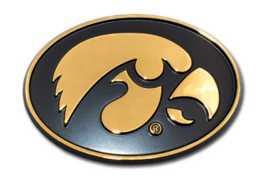 University of Iowa Gold Plated Emblem