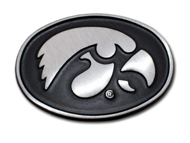 University of Iowa Matte Chrome Emblem