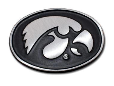 University of Iowa Matte Chrome Emblem