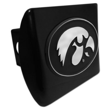 University of Iowa Emblem on Black Hitch Cover