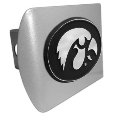University of Iowa Emblem on Brushed Hitch Cover