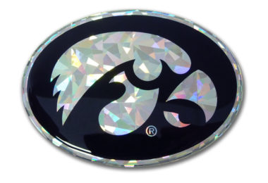 University of Iowa Silver 3D Reflective Decal