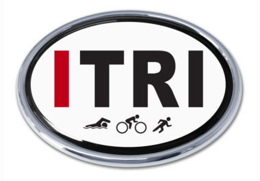 I Triathlon Chrome Emblem