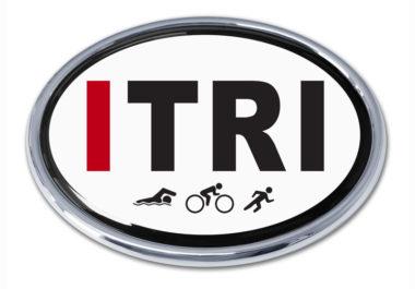 I Triathlon Chrome Emblem
