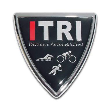 I Triathlon Shield Chrome Emblem