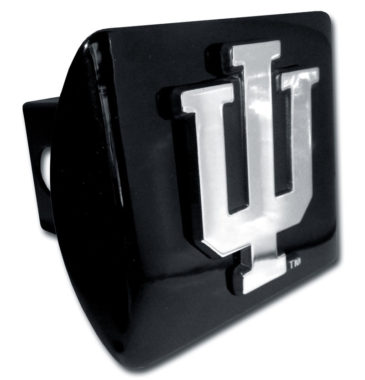 Indiana University Emblem on Black Hitch Cover