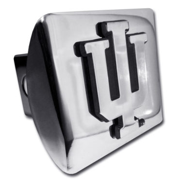 Indiana University Emblem on Chrome Hitch Cover