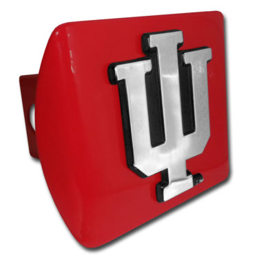 Indiana University Emblem on Red Hitch Cover
