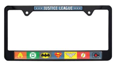 Justice League Color Black License Plate Frame image
